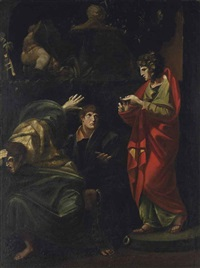 joseph interpreting the dreams of the pharaoh's baker and butler by henry fuseli