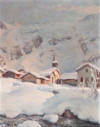 le village du tour en hiver by ange abrate