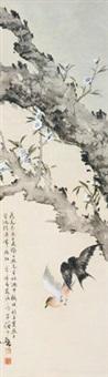 桃花双燕 by huang huanwu