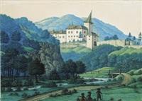 das schloß weißenburg bei kirchberg an der pielach von der mitternachtsseite im monat september by hans heideloff