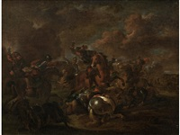 a cavalry skirmish by august querfurt