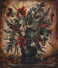 blumenstrauß in einer vase by josef steib