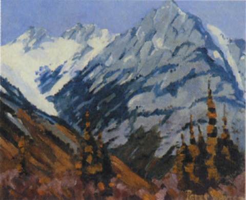 mt norquay looking north banff alberta rocky mountain park by peter whyte