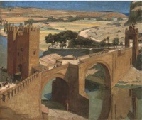 the bridge over the river tagus, toledo by archibald elliot miller