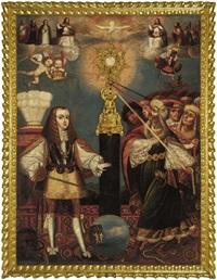 carlos ii y defensa de la eucarista by peruvian school-cuzco (17)
