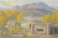 abiquiu adobes by carl woolsey