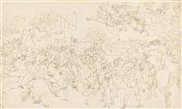 die hll. petrus und paulus erscheinen attila vor rom, nach raffaels by bonaventura genelli