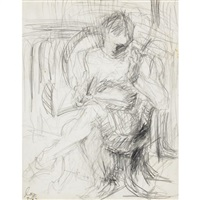 untitled (figure) by lee lozano