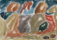 abstraction, autumn leaves by arthur dove