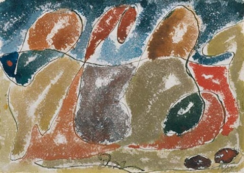 abstraction autumn leaves by arthur dove