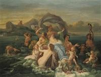 the triumph of amphitrite by jean-jacques-françois monanteuil