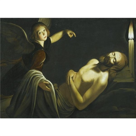 an angel watches over the dead christ by trophîme theophisme bigot the elder