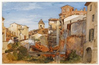 view in rome by william leighton leitch