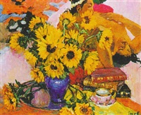 sunflowers by vladimir gusev