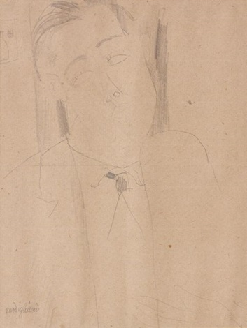 portrait de conrad moricand by amedeo modigliani