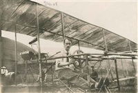 glenn curtiss in his bi-plane, july 4, 1908 by alexander graham bell collection