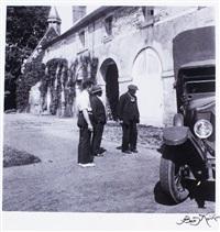 picasso le gardien et le chauffeur bernard en le château de boisgeloup by boris kochno