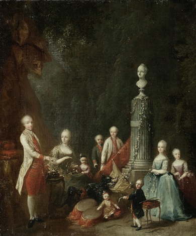 portrait of a nobleman and his family by austrian school 18