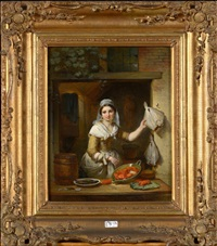 la marchande de fruits de mer by jean baptiste van eycken