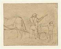 pierre courthion und georges borgeaud. le valais d'auberjonois. quinze dessins (bk w/1 work) by rené (victor) auberjonois