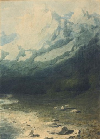 an alpine landscape by joseph mallord william turner