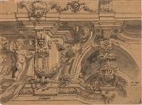 studio di decorazione architettonica con grottesche by mauro antonio (maurino) tesi