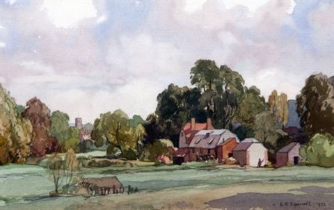 old mill new alreadford lincs by leonard russel squirrell