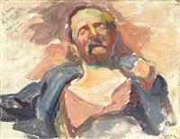 portrait d'homme endormi by maximilien luce