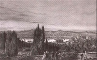 view of the kassim pasha, istanbul by j. pesselsy