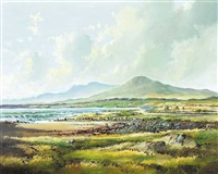 connemara landscape with cottage by r. b. higgins