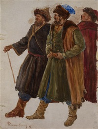 a study for ivan the terrible in livonia by pavel petrovich sokolov-skalua