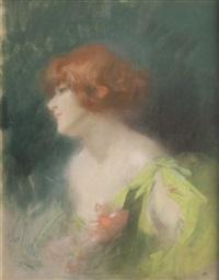 portrait de femme by jules chéret