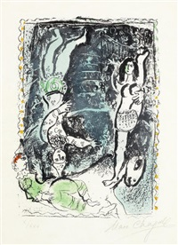 the blue pirouette by marc chagall