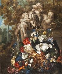 natura morta con fiori e uccelli by pieter casteels iii