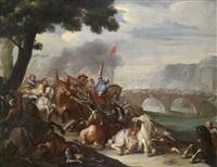 reitergefecht zwischen christen und osmanen by august querfurt