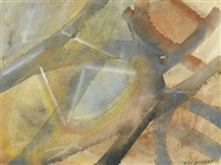 untitled abstract pastel by merton d. simpson