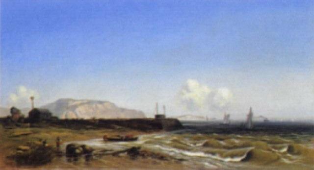 kreidefelsen an der küste von dieppe by oliver oesterheld