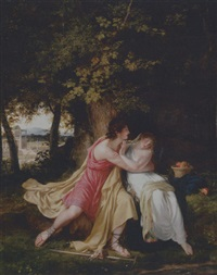 vertumnus and pomona by charles victoire frederic moench