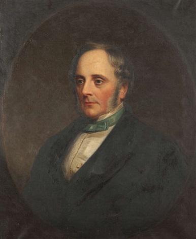 Portrait of Sir Benjamin Lee Guinness half length, wearing a