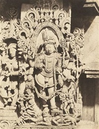sculptural high-relief of indian god ventkatramana by richard banner oakeley