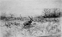 hallali de cerf by pierre de la verteville