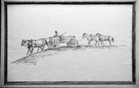 wagon and team (illus. for with grub, breakfast and rifle) by will james