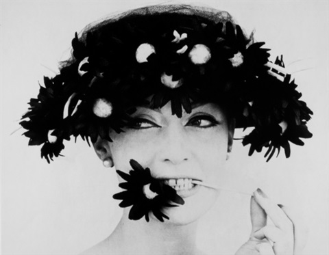 barbara with a black flower snack paris by william klein