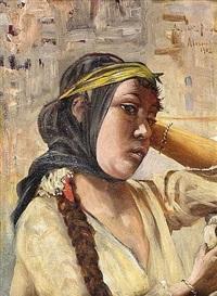portrait de jeune fille d'alexandrie by paul ansaldi
