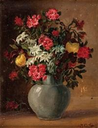 alpenblumen in vase by maria kistler