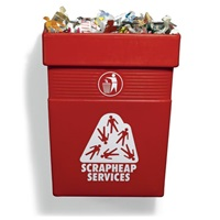 anti-people campaign bin (from the scrapheap services series) by michael landy