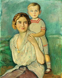 mother and son by wilhelm wachtel