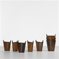 wastepaper baskets (set of 8) by p.s. heggen