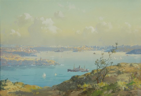 sydney harbor from north head by john allcott
