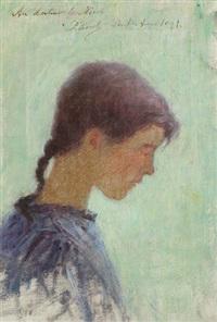 jeune bretonne de profil by per ewert